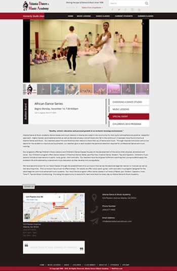 Atlanta Dance & Music Academy, Designed, Marketed and Maintained by WebPaws.com