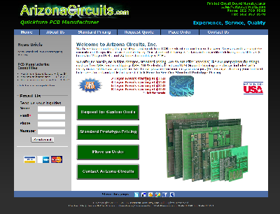 Arizona Circuits, Inc - Website Redesigned, Marketed, Validated and Maintained by WebPaws.com