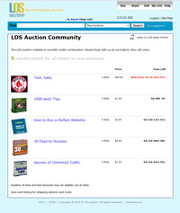 LDS Auction Community, Designed, Marketed and Maintained by WebPaws.com