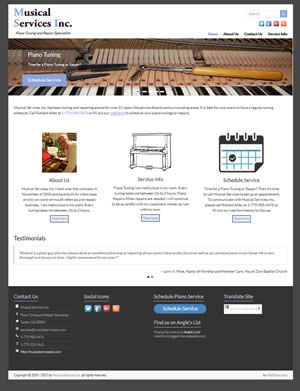 Musical Services Inc., Designed, Marketed and Maintained by WebPaws.com