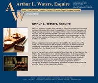Arthur L. Waters, Esquire,  Designed, Marketed and Maintained by WebPaws.com