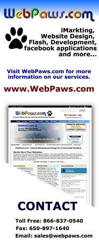 Logo Banner Design for WebPaws on Social Media Sites