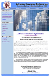 Advanced Insurance Systems, Inc. Website Marketed, Validated and Maintained by WebPaws.com