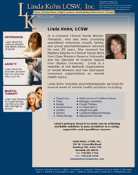 Linda Kohn LCSW, Inc. Website Marketed, Validated and Maintained by WebPaws.com