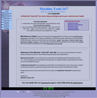 Machine Tools 24/7 Website Designed and Maintained by WebPaws.com