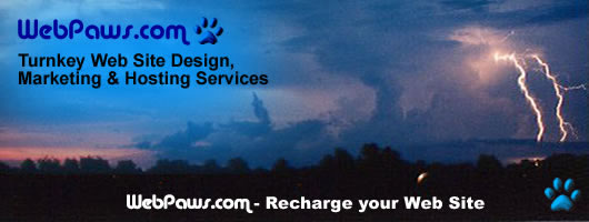 Banner Design for WebPaws.com