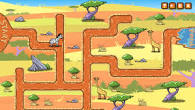 African Animals Maze Game played 2,930 times to date. Guide the African animal through the maze to the watering hole! Choose to play as a lion, cheetah, gazelle, or zebra. Then pick from one of three habitats to play in!