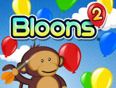 Bloons 2 played 840 times to date.  Guide your monkey through a world of 8 unique zones totaling 96 levels of Bloons-popping beauty!
