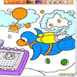 Coloring Club Penguin 1 played 967 times to date.  Love Club Penguin?  Now you get to color your own Club Penguin Penguin!  Color away
