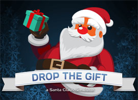 Drop The Gift played 23 times to date.  Help Santa deliver all of the presents on time, throw the presents though the chimneys of the houses and claim a new highscore!