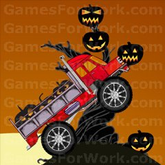 Halloween Truck played 1,406 times to date.  Drive your truck and grab the Halloween pumkins without tipping over on the hills.