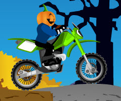 Halloween Trail played 4,076 times to date.  See you fast you can race your motorcycle to the finish line of each level of the Halloween Trail motorcycle racing game