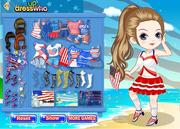 July 4th Fashion played 1,278 times to date.   Play the 'July 4th Fashion' game and dress this pretty girl in various star spangled outfits so she can party in style during the 4th of July national holiday