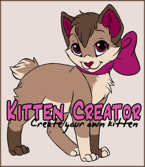 Kitten Creator by Kamirah played 1,648 times to date.  Create your own kitten.  You can color most all kitty parts to custom make your own unique kitten!