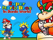 Mario Bros in Sonic played 7,270 times to date.  Play Mario Bros in Sonic World Now, A flash clone of the highly popular classic platform based on SEGA Sonic game.