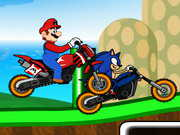 Mario Vs Sonic Racing 2 played 20,272 times to date.  Mario and Sonic is back. This time they are racing against each other, choose Mario or Sonic and clear all levels in the very cool game Mario Vs Sonic Racing. Enjoy!