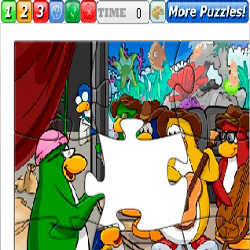 Puzzle Club Penguin 1 played 533 times to date.  Love Club Penguin?  Have fun with this Club Penguin puzzle game, can you put the pieces together correctly?