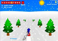 Sonic 3D Snowboarding played 2,880 times to date.  Down the hill there 15 jumps. See how high you can get your run out of ramps to jump off.