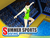 Summer Sports: Diving played 173 times to date.  Dive head first into the coolest event of the summer games! Showcase your awesome diving skills in this addictive diving simulation game and bring home that gold medal. Combine in a PvP tournament with other Qlympics games to become the ultimate champion!