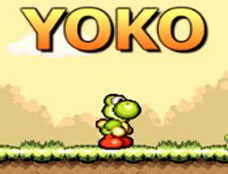 Yoko played 3,398 times to date.  Yoko is a platform game in the style of Mario. Run and jump through the levels, collect power ups and try to stay alive.