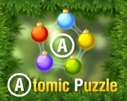 Atomic Puzzle Xmas played 141 times to date.  Atomic Puzzle in Christmas style now! Clear each level by removing the atoms in the correct order. Can you predict the merging of the molecules so that there's none left at the end of each level?