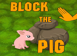 "Block the Pig played 31 times to date.  Put the tricky pig into a total blockage in ""Block the Pig"", a puzzle game for training your wits. 