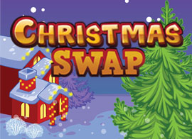 Christmas Swap played 22 times to date.  Santa could use your help! Make combinations with three or more of the same tiles and set the highest score you can! Watch the timer, it will start running low if you can't find any combinations!