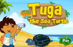 Diego's Turtle played 380 times to date.  Help Diego hunt with the Sea Turtle, Tuga.  Catch the jelly fish and letters by pressing the turtle.