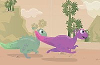 Dino Faster played 382 times to date. This is a prehistoric dinosaur foot race