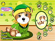 Happy St. Patrick's Day played 974 times to date.  Cute Patrick, the puppy, is ready to celebrate his favorite holiday dressed up with some of his choicest vivid green clothes accessorized with his loveliest clover patterned accessories