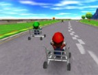 Mario Cart 3d played 4,536 times to date and played 1,515 times this month.  Mario lost his car and now he has to race his friends using something a little less conventional!