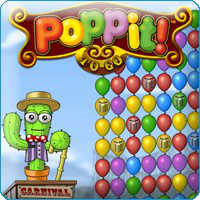 Poppit played 2,558 times to date. Got stress?  Well the Poppit flash game is an incredible stress reliever.  Pop groups of 2 or more of the same color balloons and pick up some prizes along the way!