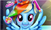 Rainbow Dash: Real Haircuts played 128 times to date. This magical pony is really overdue for a haircut. Join her at the pony salon and see if you can create a super cute new hairdo for her in this enchanted makeover game.