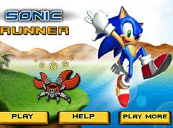 Sonic Runner played 7,796 times to date.  Help Sonic to run as far as possible, collect coins and get power-ups, achieve bonuses and unlock new worlds.