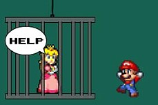 Super Mario Save Peach played 932 times to date. The princess has been captured and you must rescue her! Complete 8 levels by collecting the star to save Princess Peach.