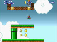 New Super Mario Bros. Flash played 5,566 times to date.  This Mario game is obviously based off New Super Mario Bros. for the Nintendo DS.